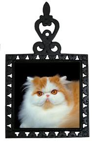 Persian Cat Iron Trivet