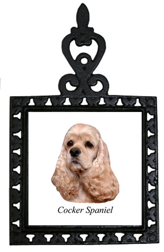 Cocker Spaniel Iron Trivet