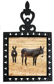 Donkey Iron Trivet