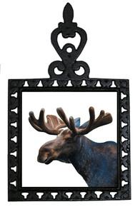 Moose Iron Trivet