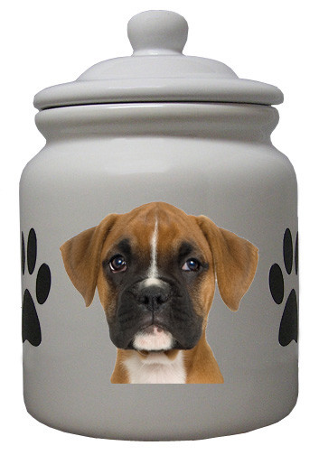 Boxer Ceramic Color Cookie Jar