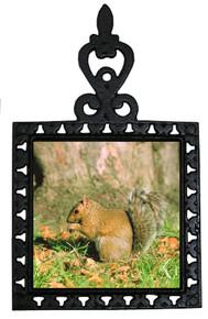 Squirrel Iron Trivet