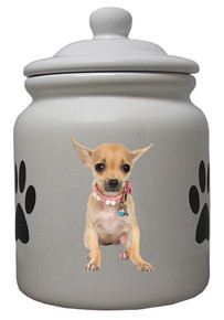 Chihuahua Ceramic Color Cookie Jar