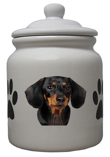 Dachshund Ceramic Color Cookie Jar