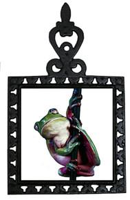 Tree Frog Iron Trivet