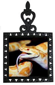 Python Snake Iron Trivet