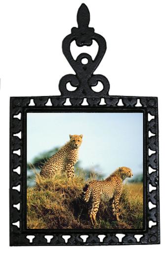 Cheetah Iron Trivet