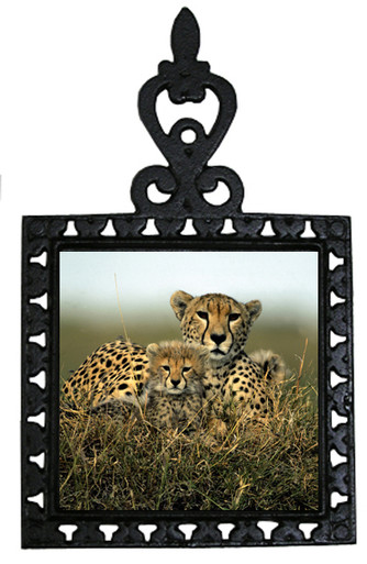 Cheetah Iron Trivet