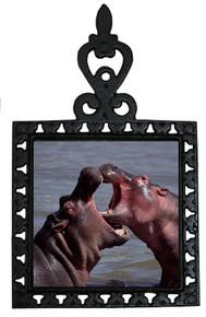 Hippo Iron Trivet