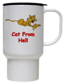 Cat From Hell: Travel Mug