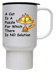 Cat Is A Puzzle: Travel Mug