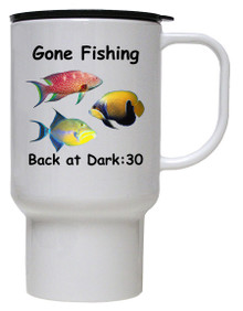 Gone Fishing: Travel Mug
