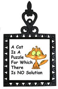 Cat Is A Puzzle: Trivet