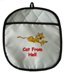 Cat From Hell: Pot Holder