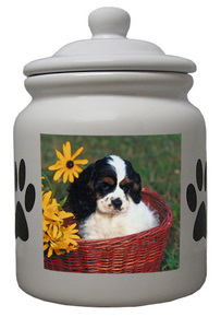 Cavalier King Charles Ceramic Color Cookie Jar