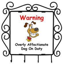 Affectionate Dog On Duty: Metal Key Holder