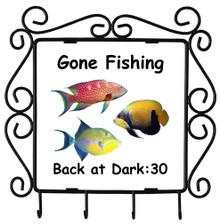 Gone Fishing: Metal Key Holder