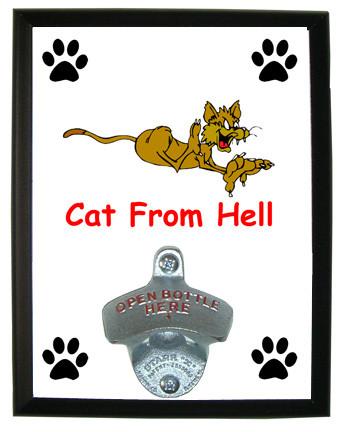 Cat From Hell: Bottle Opener