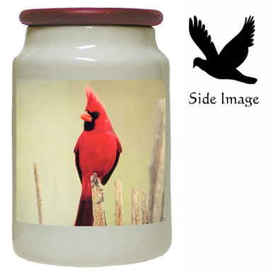 Cardinal Canister Jar