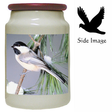 Chickadee Canister Jar