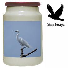 Egret Canister Jar