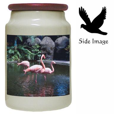Flamingo Canister Jar