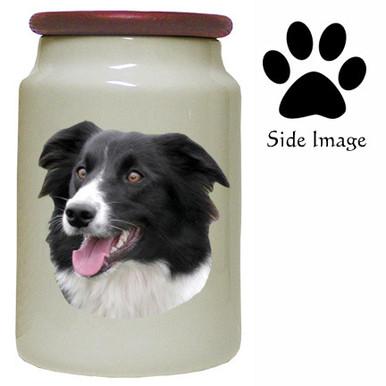 Border Collie Canister Jar