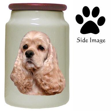 Cocker Spaniel Canister Jar