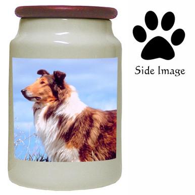 Collie Canister Jar