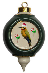 Bee Eater Victorian Green and Gold Christmas Ornament