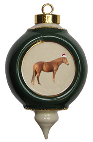 Barb Victorian Green and Gold Christmas Ornament