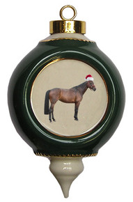 Oldenburg Victorian Green and Gold Christmas Ornament