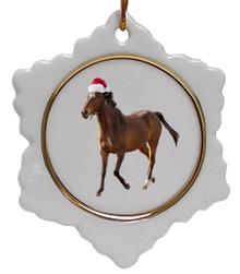 Arabian Jolly Santa Snowflake Christmas Ornament