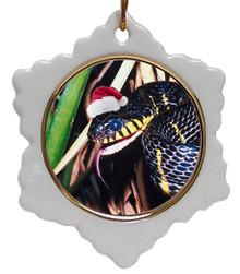 Mangrove Snake Jolly Santa Snowflake Christmas Ornament