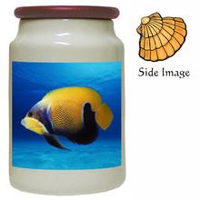 Blue Girdled Angelfish Canister Jar