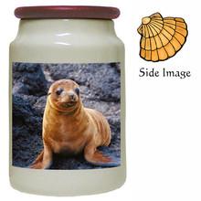 Sea Lion Canister Jar