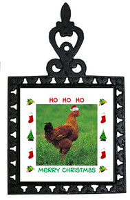 Chicken Christmas Trivet