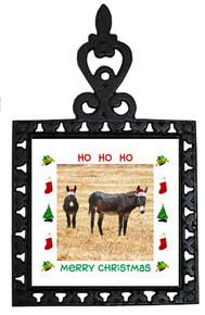Donkey Christmas Trivet