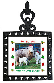 Lamb Christmas Trivet