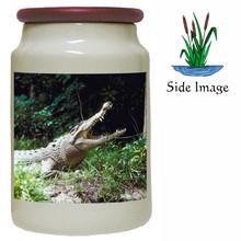 Crocodile Canister Jar