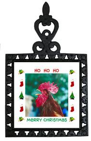 Rooster Christmas Trivet