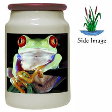 Tree Frog Canister Jar
