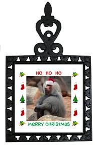 Baboon Christmas Trivet