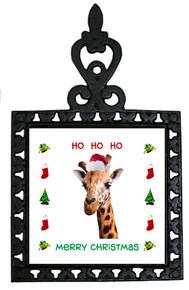 Giraffe Christmas Trivet
