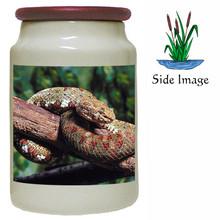 Viper Snake Canister Jar