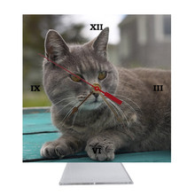 Cat Desk Clock