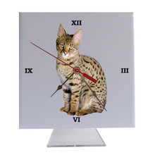 Savannah Cat Desk Clock