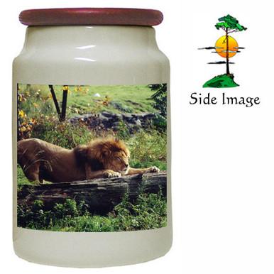 Lion Canister Jar