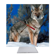 Coyote Desk Clock
