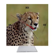 Cheetah Desk Clock